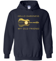 Guitar lover hello darkness my old friend, love guitar T shirt