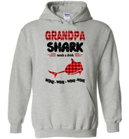 Grandpa shark needs a drink wine father's day gift tee shirt