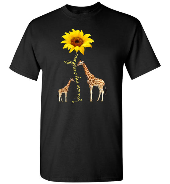 Giraffe you are my sunshine sunflower T-shirt for men women