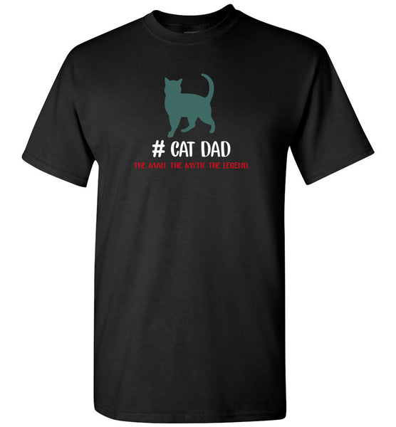 Cat dad the man the myth the legend T shirt, father's day gift tee
