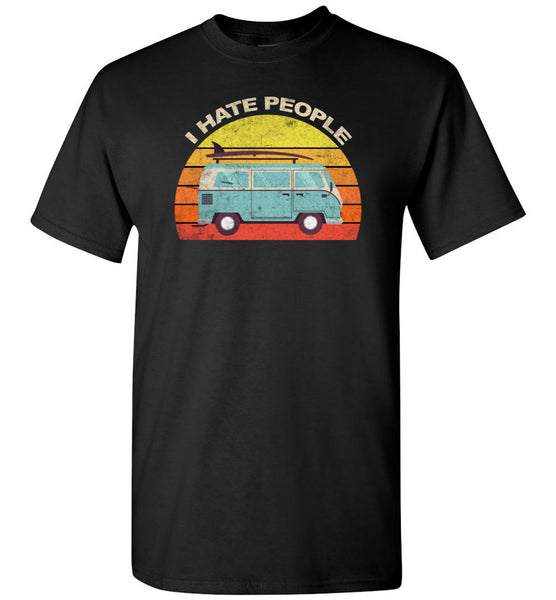 Car camping I hate people, funny camping tee shirts