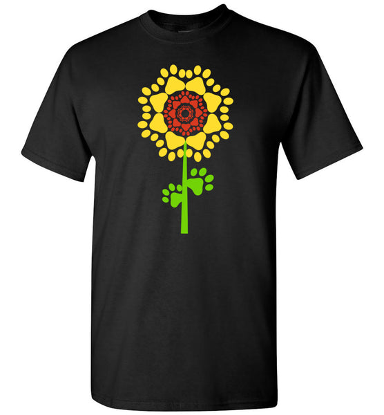 Sunflower Dog Paw Appreciation Day Tee shirt