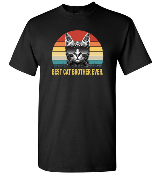 Best cat brother ever vintage gift Tee shirt