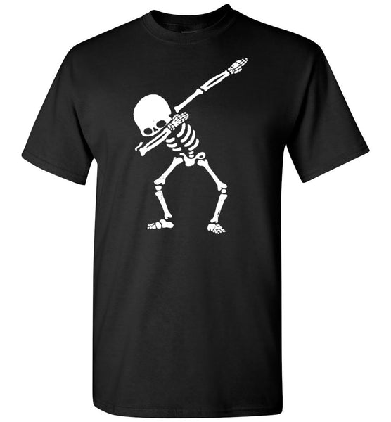 Dabbing skeleton halloween gift t shirt