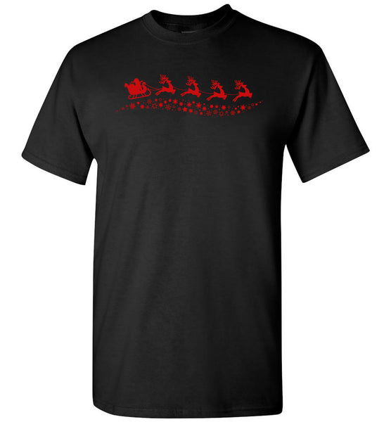 Santa claus reindeer funny christmas t shirt for men women