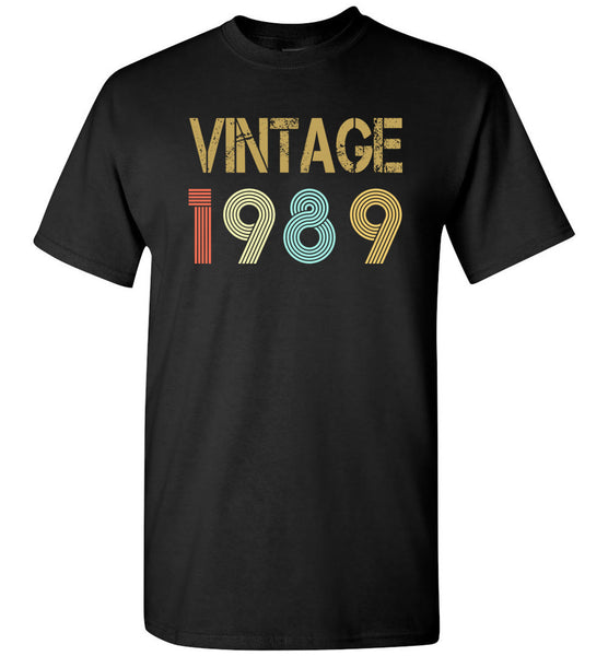 Vintage 1989 T-shirt, 30 birthday gift tee