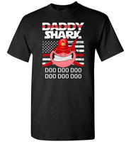 FireFighter Daddy Shark Blue Line Funny Gift Shirt, Father's day gift tee