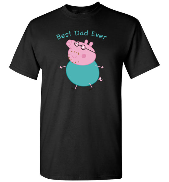 Peppa Pig Daddy Best Dad ever T-shirt, father's day gift tee