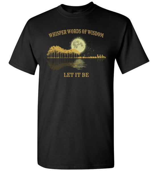Guitar-lover,-Whisper-words-of-wisdom-let-it-be,-love-guitar-shirt