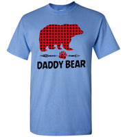 Daddy Bear Red Plaid Dad Fathers Day Gift T Shirt