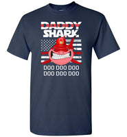 FireFighter Daddy Shark Funny Gift Shirt, Father's day gift tee