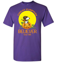 Great pumpkin believer snoopy halloween t shirt