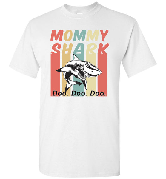 Retro Vintage mommy shark doo doo doo shirt, mom, mother's day gift tee