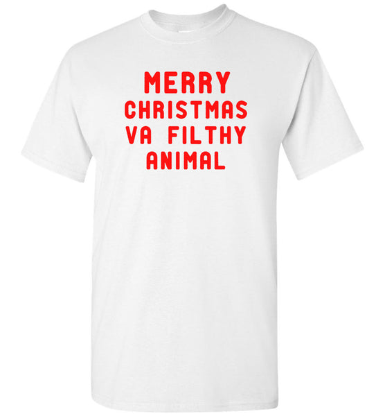 Mery Christmas Va Filthy Animal T shirt
