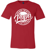 Papa The Man The Myth The Legend Fathers Day Gift T Shirts