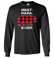 Red Plaid Best Papa Ever Bear Fathers Day Gift Funny T-shirt