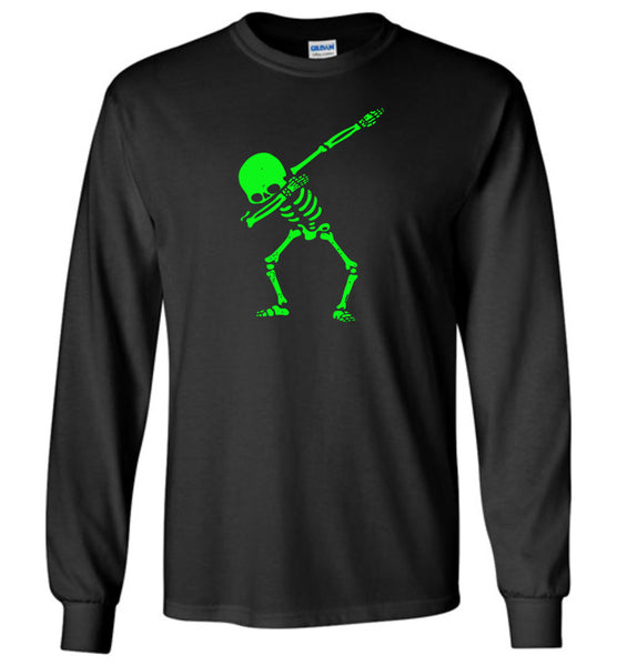 Dabbing skeleton halloween t shirt gift