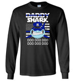 Police Daddy Shark Blue Line Funny Gift Shirt, Father's day gift tee