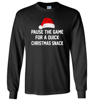 Pause the game for a quick Christmas snack T shirt