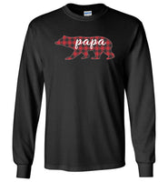 Red Plaid Papa Bear Matching Buffalo Family Pajama T-Shirt