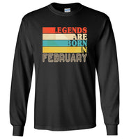 Legends are born in February vintage T-shirt, birthday's gift tee