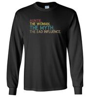 Auntie the woman the myth the bad influence T shirt, gift tee for aunt