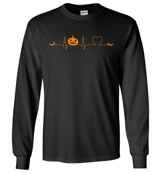 Love heartbeat pumpkin bat halloween t shirt gift