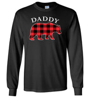 Red Plaid Daddy Bear Matching Buffalo Family Pajama T Shirt