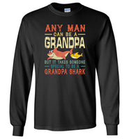 Someone special man to be a grandpa shark T shirt, gift tee for grandpa