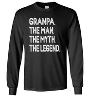 Grandpa the man the myth the legend t shirt, father's day gift