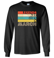 Legends are born in March vintage T-shirt, birthday's gift tee