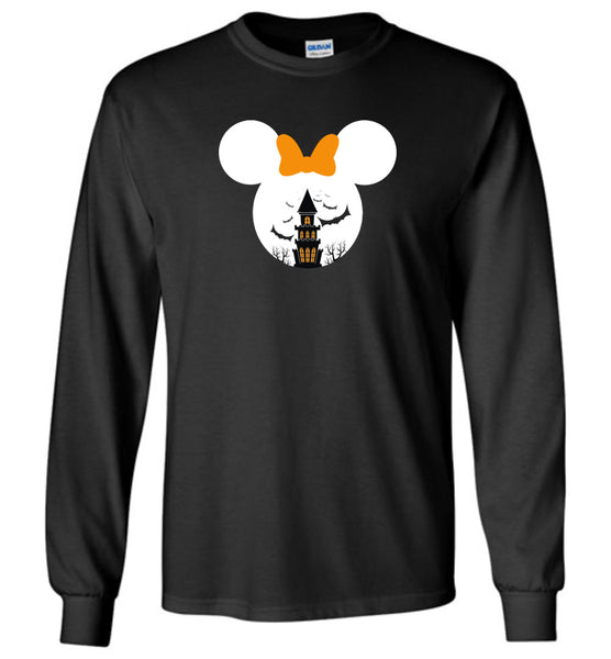 Mickey mouse halloween castle bat t shirt
