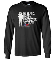 Husband daddy protector veteran hero T shirt, father's day gift tee, papa, dad shirt
