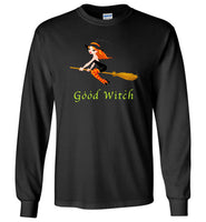 Halloween good witch broom hat t shirt