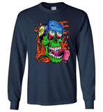 Colorful skull halloween t shirt gift