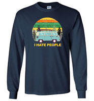 Funny camping tee shirts, car camping i hate people T-shirt