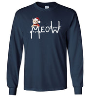 Cat meow christmas funny T-shirt