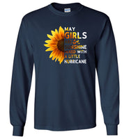 Sunflower May girls are sunshine mixed with a little Hurricane T-shirt