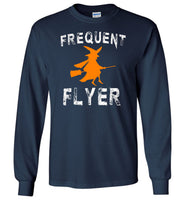 Frequent flyer witch halloween t shirt gift