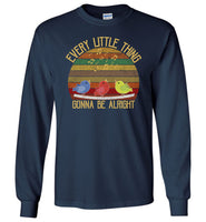 Vintage every little thing gonna be alright bird singing T-shirt