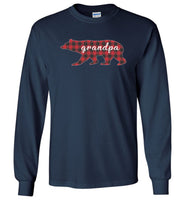 Red Plaid Grandpa Bear Matching Buffalo Family Pajama T-Shirt