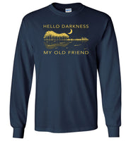 Hello darkness my old friend, guitar lake shadow, guitar lover, love guitar T- shirt