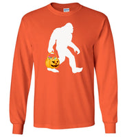 Bigfoot pumpkin halloween costume t shirt