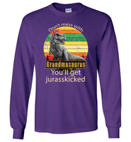 Don't mess with Grandmasaurus you'll get jurasskicked shirt