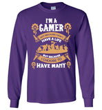 Gamer - I choose to have many lives t shirt