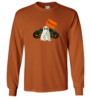 Pumpkin ghost boo halloween t shirt gift