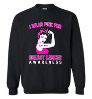 I wear pink for breast cancer awareness, woman strong pink warrior Tee shirt