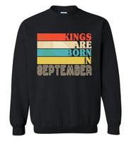 Kings are born in September vintage T-shirt, birthday's gift tee for men