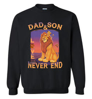 Dad and son love never end T shirt, father's day gift tee