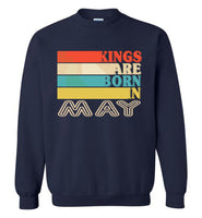 Kings are born in May vintage T-shirt, birthday's gift tee for men